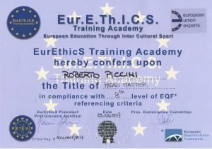 Convegno Eurethics-Riconoscimenti Renbukan