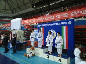 Larissa 3a classificata coppa italia kata
